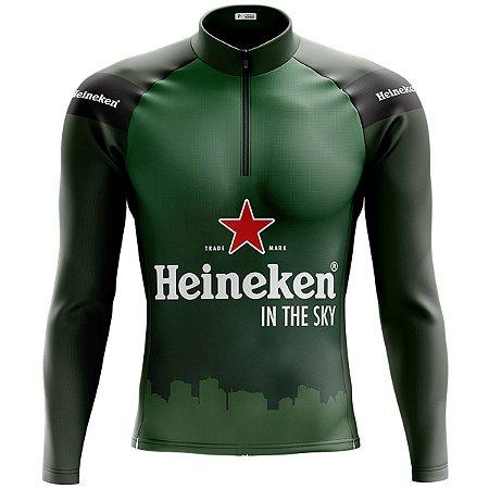 Camisa Ciclismo Mountain Bike Heineken Manga Longa
