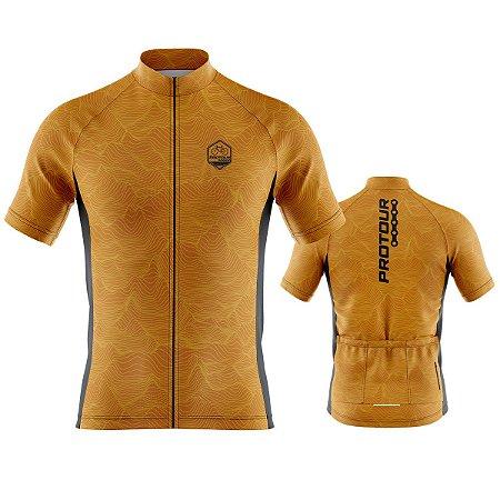 Camisa Ciclismo Pro Tour Preta Lava Premium Zíper Abertura Total