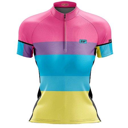 Camisa Ciclismo Mountain Bike Feminina Napolitano