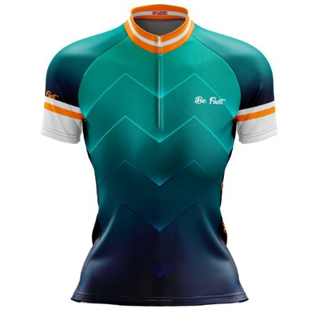 Camisa Ciclismo Mountain Bike Feminina Degrade Verde
