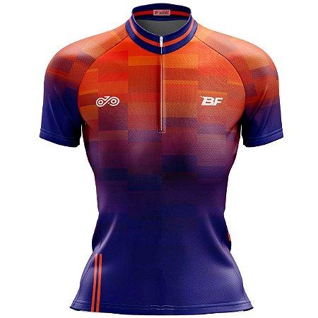 Camisa Ciclismo Mountain Bike Feminina Degrade