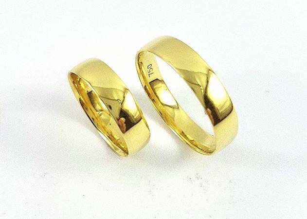 Par de alianças em ouro 18k TAL004