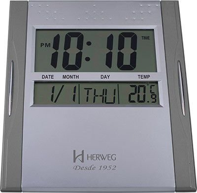 Relógio de Parede Digital Herweg 6474