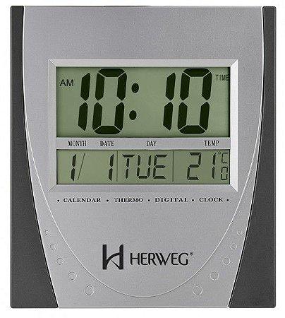 Relógio Digital de Parede/Mesa Herweg 6287