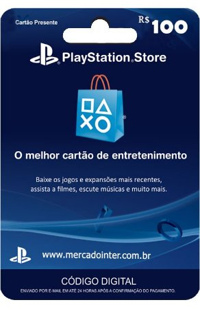 PLAYSTATION NETWORK R$100 REAIS - BRASIL