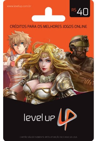 CARTÃO LEVEL UP GAMES R$40