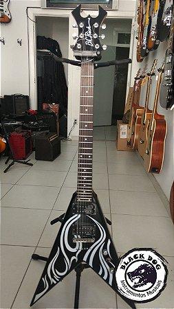 Guitarra Bc Rich Kkv Flying V Usada Black Dog Instrumentos