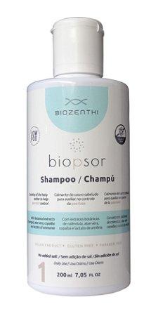 BIOZENTHI - Linha Biopsor Tratamento da Psoríase - Shampoo 200ml - Natural - Vegano - Sem Glúten