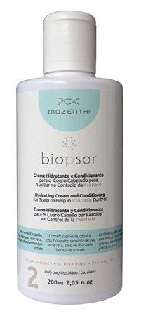 BIOZENTHI - Linha Biopsor Tratamento da Psoríase - Condicionador 200ml - Natural Vegano Sem Glúten