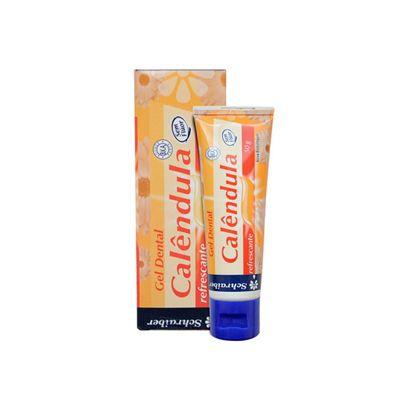 SCHRAIBER - Gel Dental de Calêndula 50g - Sem flúor - Natural - Vegano - Kosher