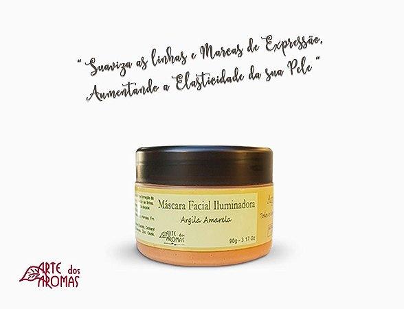 ARTE DOS AROMAS - Máscara Facial de Argila Amarela 90g - Natural - Vegana