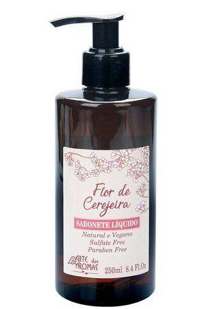 ARTE DOS AROMAS - Sabonete Líquido Flôr de Cerejeira 250ml - Vegano - Natural
