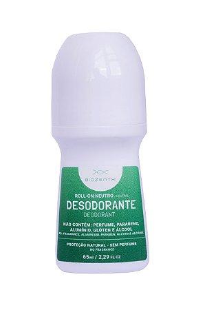 BIOZENTHI - Desodorante Roll-on 65ml - NEUTRO Sem Perfume - Natural - Vegano