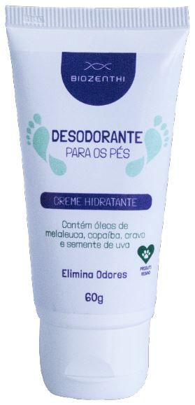 BIOZENTHI - Desodorante Para Os Pés 60g - Hidratante - Natural - Vegano