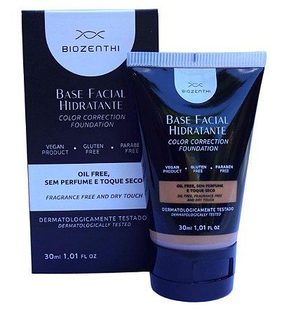 BIOZENTHI - Base Facial Hidratante Cor Bege Médio 30ml - Hipoalergênica - Natural - Vegana - Sem Glúten