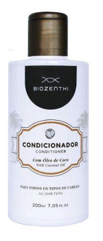 BIOZENTHI - Condicionador de Óleo de Coco 200ml - Natural - Vegano - Sem Glúten - Sem testes em animais