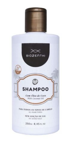 BIOZENTHI -  Shampoo com Óleo de Coco - 250 ml - Natural - Vegano