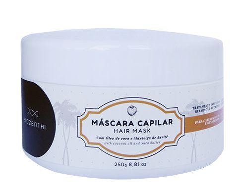 BIOZENTHI -  Máscara Capilar com Óleo de Coco - 250g - Natural - Vegano - Sem Glúten