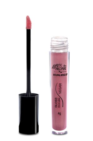 ARTE DOS AROMAS Gloss Brilho Labial Rose Gold 4g - Natural - Vegano