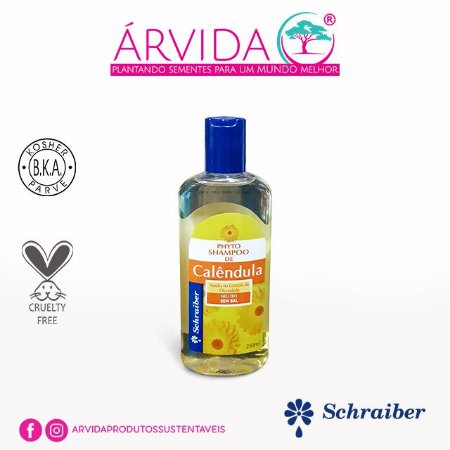 SCHRAIBER - Shampoo de Calêndula 250ml - Natural - Vegano - Kosher