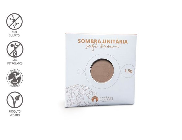 CATIVA NATUREZA - Sombra Refil SOFT BROWN 1,5g - Orgânica - Natural - Vegana