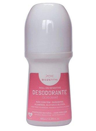 BIOZENTHI - Desodorante Roll-on 65ml - Sensitive Perfume Suave - Natural - Vegano