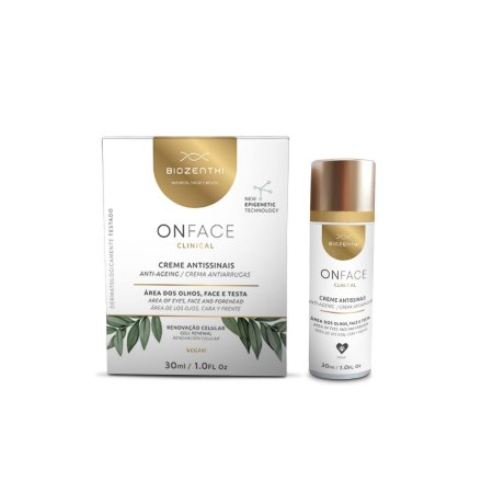 BIOZENTHI - ONFACE Clinical Antissinais Facial 30ml - Natural - Vegano - Sem Glúten