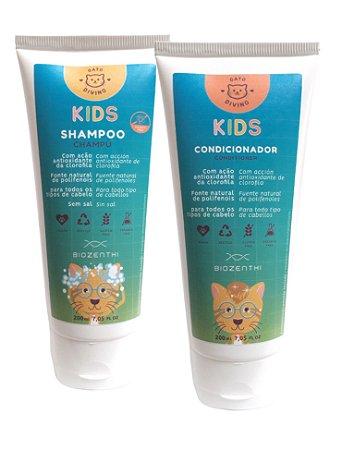 BIOZENTHI - Kit KIDS Gato Divino Shampoo e Condicionador - 200ml - Natural - Vegano - Sem Glúten