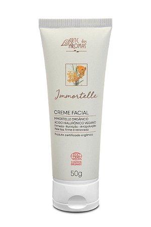 ARTE DOS AROMAS - Creme Facial Immortelle ECO 50g - Orgânico - Natural - Vegano