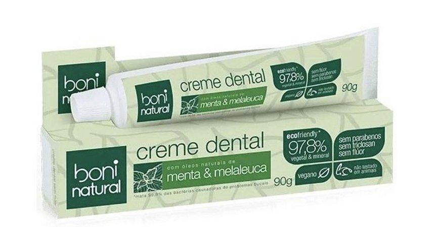ÁRVIDA / Boni Natural - Creme Dental Menta & Melaleuca - Sem Fluor e Vegano 90g