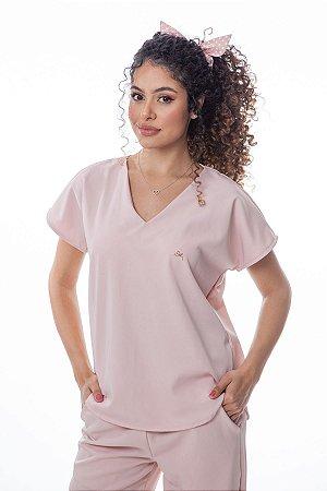 Pijama Cirúrgico Feminino Monise Rosé