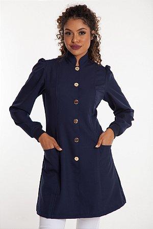 Jaleco Feminino França Azul Marinho