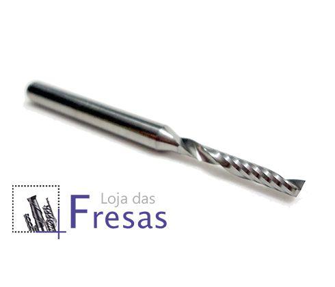 Fresa de 1 corte helicoidal - 2mm - Metal duro