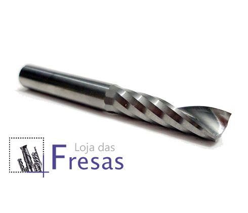 Fresa de 1 corte helicoidal - 5mm - Metal duro