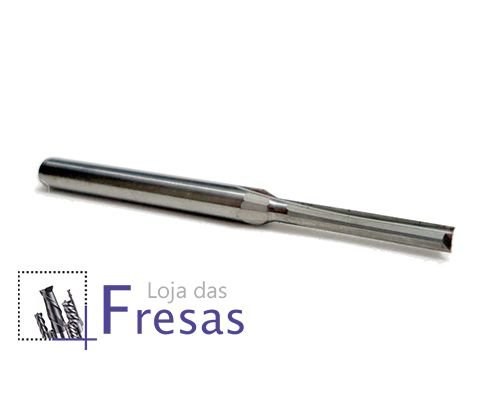 Fresa de 2 cortes retos - 2mm - Metal duro