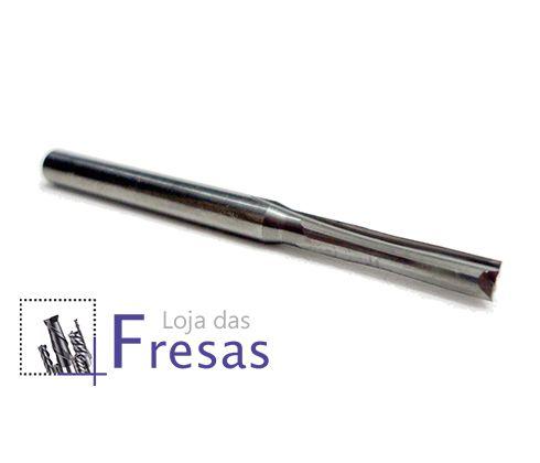Fresa de 2 cortes retos - 2,5mm - Metal duro