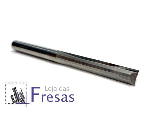 Fresa de 2 cortes retos - 4mm - Metal duro