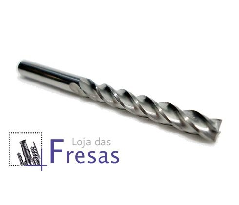 "Fresa de 4 cortes helicoidais - 3,175mm (1/8"") - Metal duro"