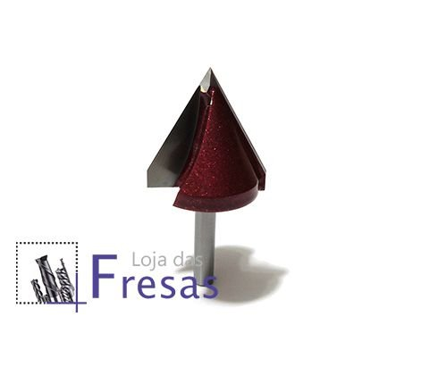 Fresa v-carving 2 cortes retos 60 graus - Metal duro