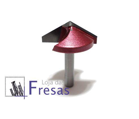 Fresa v-carving 2 cortes retos 120 graus - Metal duro