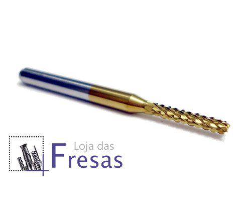 Fresa topo raiada - 2mm - Metal duro c/TiN