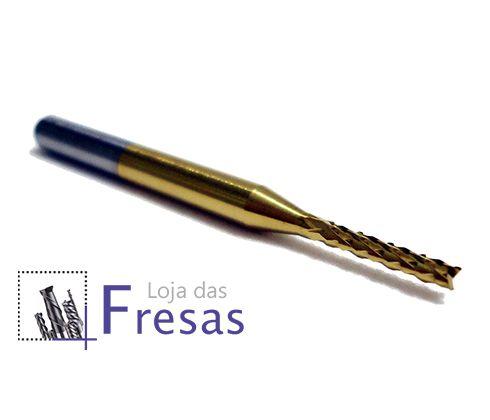 Fresa topo raiada - 1,5mm - Metal duro c/TiN