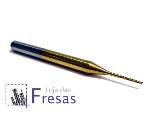 Fresa topo raiada - 0,6mm - Metal duro c/TiN