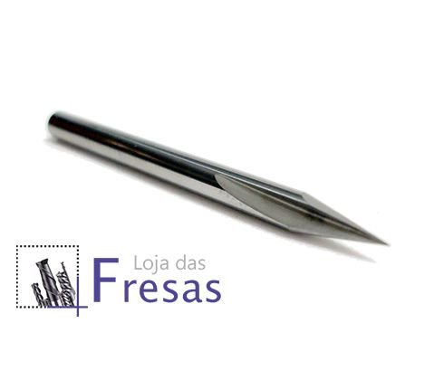 "Fresa v-carving 2 cortes retos 3,175mm (1/8"") - Metal duro"