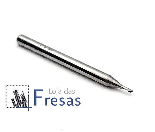Fresa downcut 1 corte helicoidal 1,0mm - Metal duro