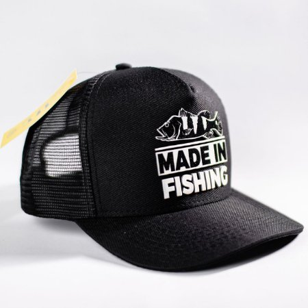 Boné Classic Black Edition Made in Fishing ® - Original - Preto