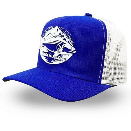 Boné Mountain Fish - Made in Fishing ® - Original - Azul