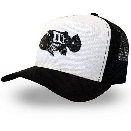 Boné Tucunaré - Made in Fishing ® - Original - Branco e preto