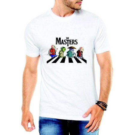 Camiseta Masculina Branca - Os Mestres