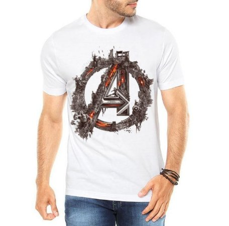 Camiseta Masculina Branca - Vingadores